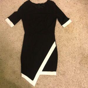 Lulu's Black and White Dress Cocktail Dress